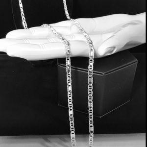 Sterling silver  D/C Mariner chain 30""